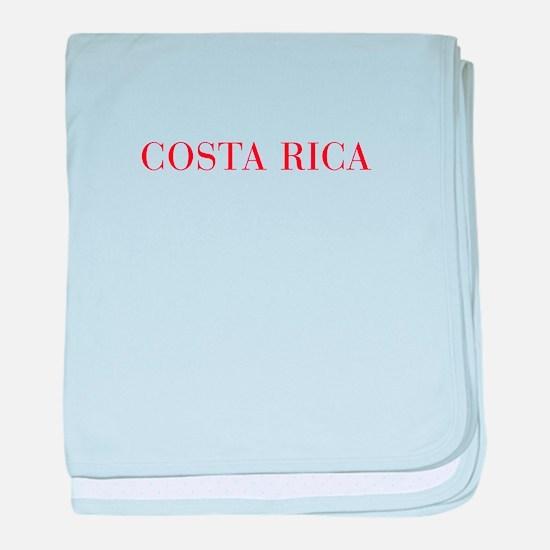 Costa Rica-Bau red 400 baby blanket
