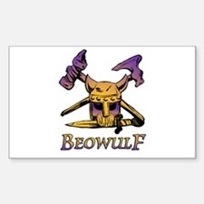 Beowulf Viking Skull Rectangle Decal