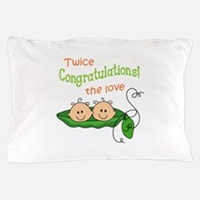 TWICE THE LOVE Pillow Case