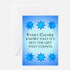 Geocacher Merry Christmas Greeting Card