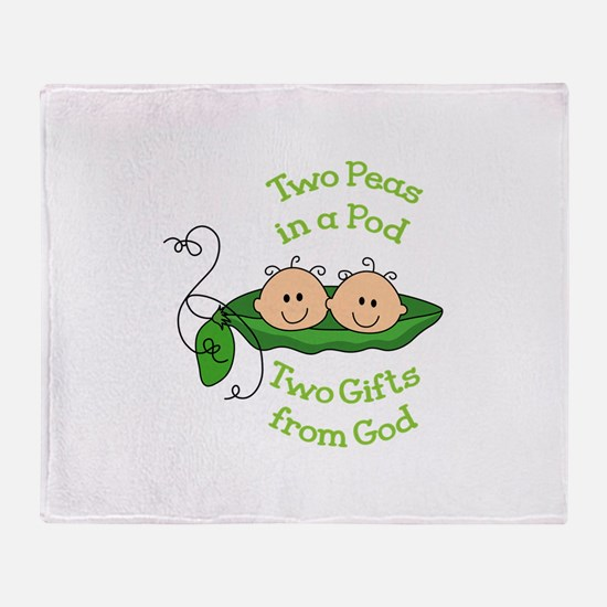 TWO GIFTS FROM GOD Throw Blanket