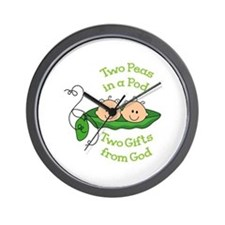 TWO GIFTS FROM GOD Wall Clock