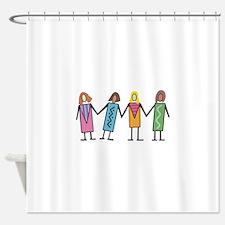 WOMEN HOLDING HANDS Shower Curtain