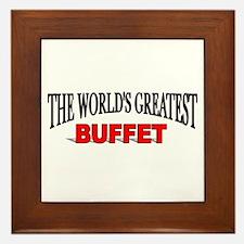"""""""The World's Greatest Buffet"""" Framed Tile"""