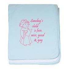 SUNDAYS CHILD baby blanket