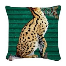 Servals Woven Throw Pillow