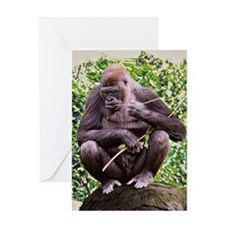 Gorillas Greeting Card