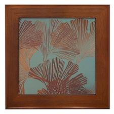 Gingko Leaves Framed Tile