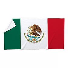 Mexican Flag Beach Towel
