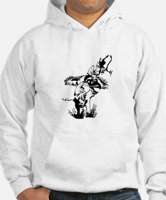 Rider on Rodeo Bull Hoodie