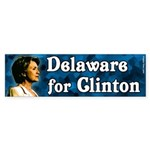 Delaware for Clinton bumper sticker