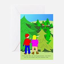 Geocaching Christmas Greeting Card