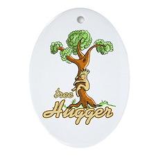 Tree Hugger Oval Ornament