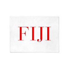 Fiji-Bau red 400 5'x7'Area Rug