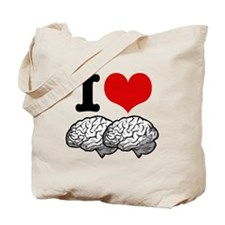 I Love Brains Tote Bag