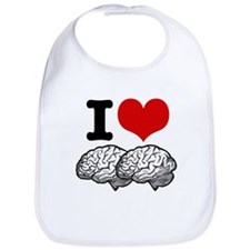 I Love Brains Bib