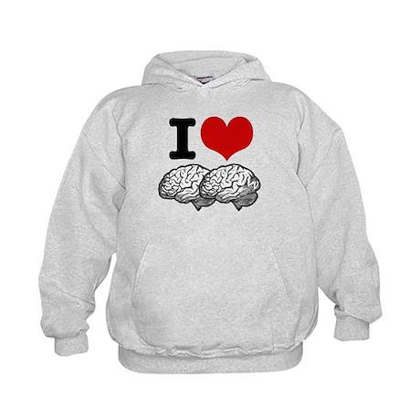 I Love Brains Kids Hoodie