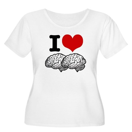 I Love Brains Women's Plus Size Scoop Neck T-Shirt