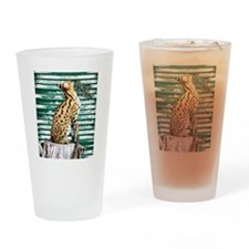 Serval Drinking Glass