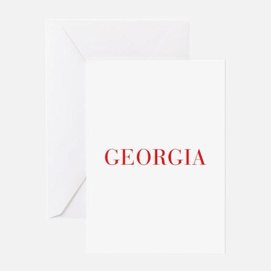 Georgia-Bau red 400 Greeting Cards