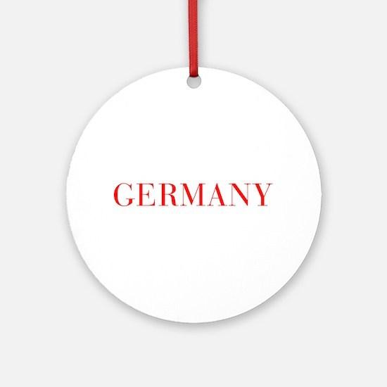 Germany-Bau red 400 Ornament (Round)