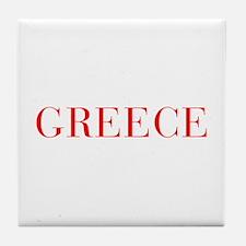 Greece-Bau red 400 Tile Coaster