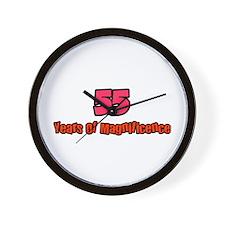 Funny Humorous 55th birthday Wall Clock
