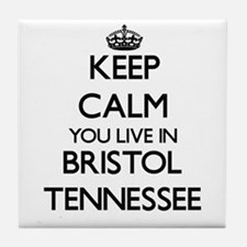 Keep calm you live in Bristol Tenness Tile Coaster