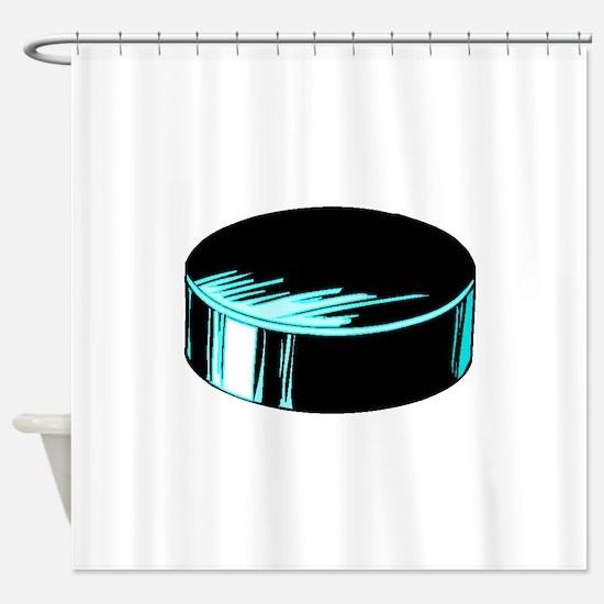 Hockey Puck Shower Curtain