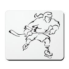 Girl Hockey Player Mousepad