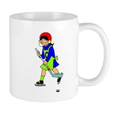 Girl Hockey Player Mugs