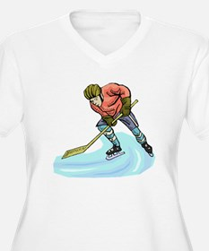 Hockey Player Plus Size T-Shirt