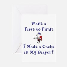 FTF Diaper Cache Greeting Cards (Pk of 20)