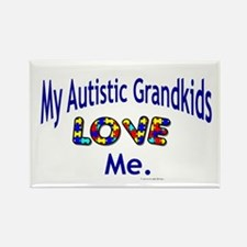 My Autistic Grandkids Love Me Rectangle Magnet (10