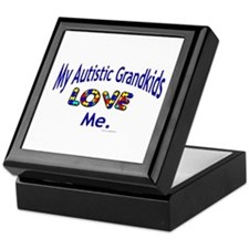 My Autistic Grandkids Love Me Keepsake Box