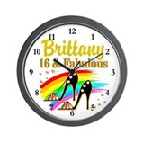 16th birthday for girl Wall Clocks