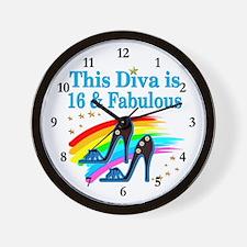 16 YR OLD PRINCESS Wall Clock
