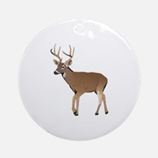 WHITETAIL DEER Ornament (Round)