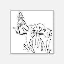 Dog Sled Racing Sticker