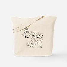 Dog Sled Racing Tote Bag