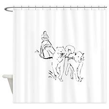 Dog Sled Racing Shower Curtain