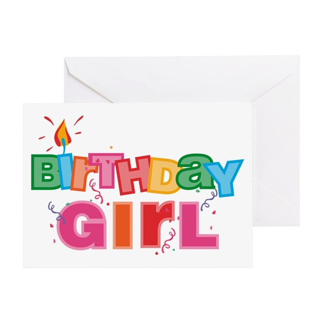Birthday Girl Letters Greeting Card By Pinkinkart