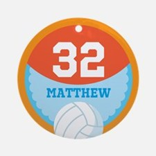 Personalized Volleyball Sports Number Ornament (Ro