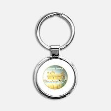 Golden Temple Round Keychain