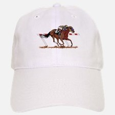 Jockey on Racehorse Baseball Baseball Baseball Cap