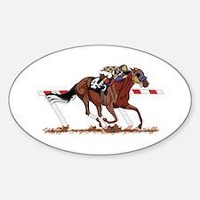 Jockey on Racehorse Decal