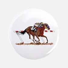 """Jockey on Racehorse 3.5"""" Button"""