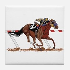 Jockey on Racehorse Tile Coaster