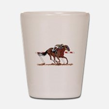 Jockey on Racehorse Shot Glass