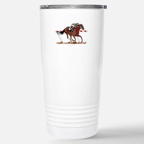 Jockey on Racehorse Travel Mug